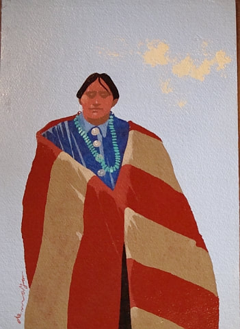 Navajo with Blanket - James Ratliff Gallery